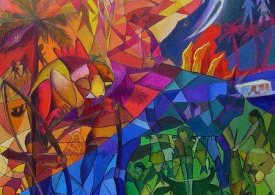 Esther_Cuellar_pintura_abstracta_07_Folclor_Y_Fauna_Del_Llano