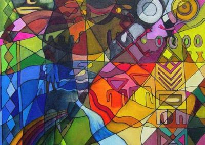 Esther_Cuellar_pintura_abstracta_13_Mito_de_la_Creacion_Cultura_Muisca