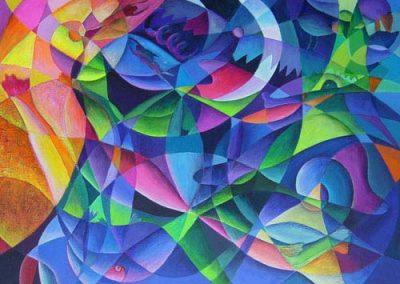 Esther_Cuellar_pintura_abstracta_16_Amazonas_PuebloDel_Agua