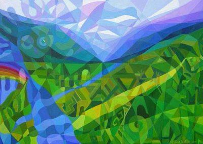 Esther_Cuellar_pintura_abstracta_17_El_Pueblo_del_Maiz_en_El_Valle_del_Lucero