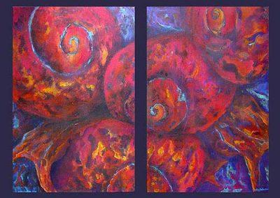 Esther_Cuellar_pintura_abstracta_Composicion_Caracoles_No_03