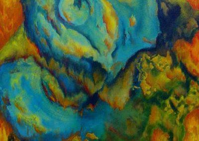 Esther_Cuellar_pintura_abstracta_Composicion_Caracoles_No_07