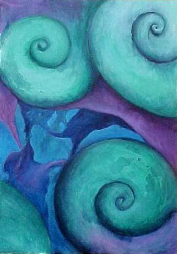 Esther_Cuellar_pintura_abstracta_Composicion_Caracoles_No_08