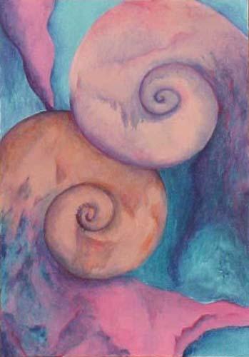 Esther_Cuellar_pintura_abstracta_Composicion_Caracoles_No_09