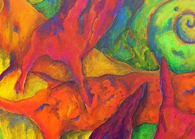 Esther_Cuellar_pintura_abstracta_Composicion_Caracoles_No_10