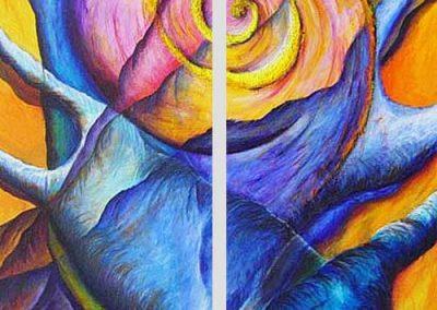 Esther_Cuellar_pintura_abstracta_Composicion_Caracoles_No_16