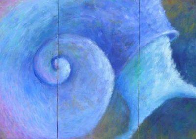 Esther_Cuellar_pintura_abstracta_Composicion_Caracoles_No_17
