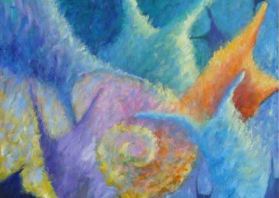 Esther_Cuellar_pintura_abstracta_Composicion_Caracoles_No_21