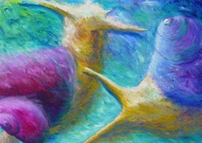 Esther_Cuellar_pintura_abstracta_Composicion_Caracoles_No_26