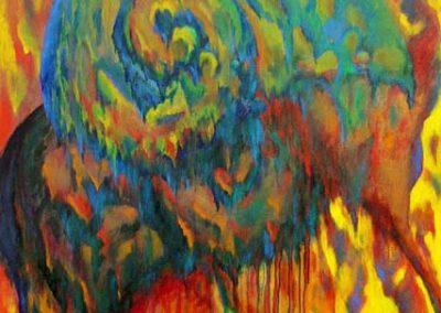 Esther_Cuellar_pintura_abstracta_Composicion_Caracoles_No_27