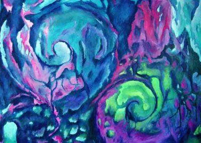 Esther_Cuellar_pintura_abstracta_Composicion_Caracoles_No_29