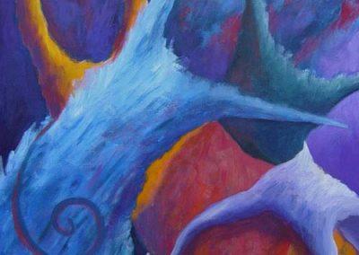 Esther_Cuellar_pintura_abstracta_Composicion_Caracoles_No_34