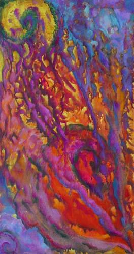 Esther_Cuellar_pintura_abstracta_Composicion_Caracoles_No_36