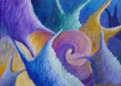 Esther_Cuellar_pintura_abstracta_Composicion_Caracoles_No_37