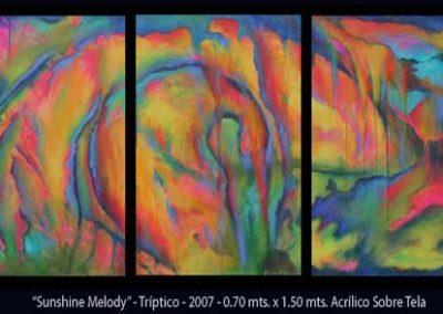 Esther-Cuellar_pintura-abstracta_Sunshine-Melody_Triptico