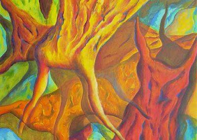 Esther_Cuellar_pintura_abstracta_01_Composicion_Caracoles_No_11