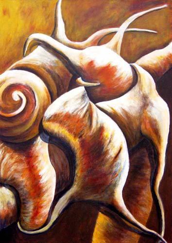 Esther_Cuellar_pintura_abstracta_03_Composicion_Caracoles_No_24