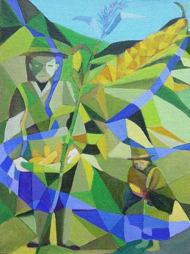 Esther_Cuellar_pintura_abstracta_03_Tradicion_del_Maiz