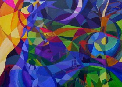 Esther_Cuellar_pintura_abstracta_04_Mito_de_la_Creacion_Cultura_Amazonas