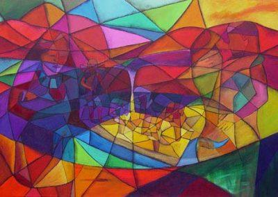 Esther_Cuellar_pintura_abstracta_06_Leyenda_De_Guatavita