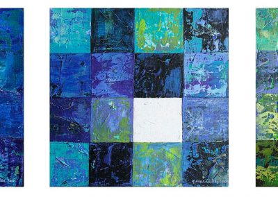 Triptico Retazos Azul