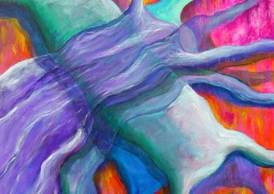 Esther_Cuellar_pintura_abstracta_Composicion_Caracoles_No_12
