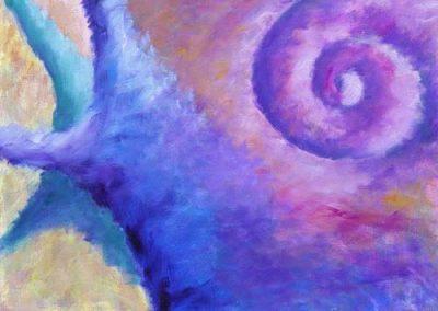 Esther_Cuellar_pintura_abstracta_Composicion_Caracoles_No_13