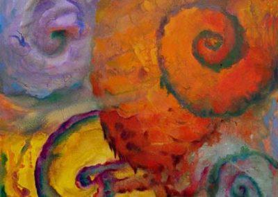 Esther_Cuellar_pintura_abstracta_Composicion_Caracoles_No_30