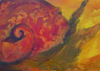 Esther_Cuellar_pintura_abstracta_Composicion_Caracoles_No_31