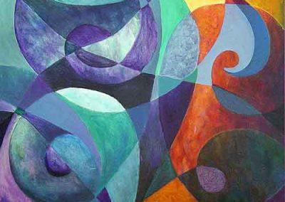 Esther_Cuellar_pintura_abstracta_Melodia_de_Color_No_13